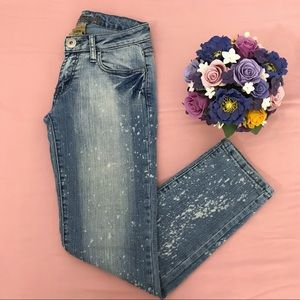 Bubblegum low-rise skinny jeans
